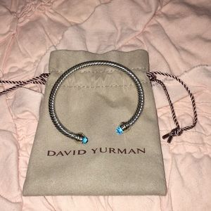 David Yurman topaz cable bracelet size medium